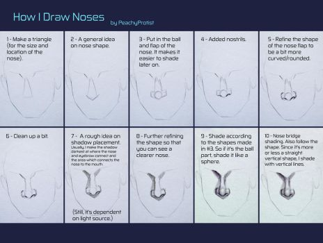 How I Draw Noses by PeachyProtist