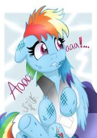 MLP FIM - Rainbow Dash's Cute Scream by Joakaha