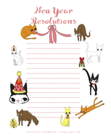 Main sheet - New Years Resolutions Cats by beyourpet