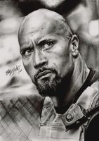 Dwayne 'The Rock' Johnson by FreedomforGoku