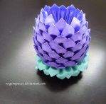 3d Origami Lotus by OrigamiPieces
