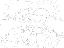 Naruto and Friends II by PassionatePink