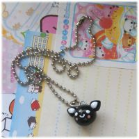Black Cat Necklace by Keito-San