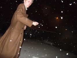 10th Doctor Cosplay - Snow 3 by TimeLord1991