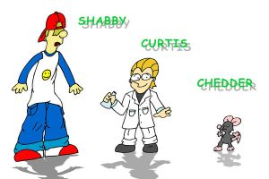 Shabby, Curtis, and Chedder by patob215