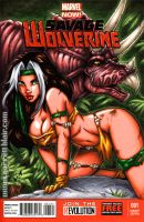 Savage Land Rogue sketch cover by gb2k