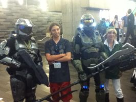 Me ( Link ) with my friend and the Spartans by Sinta54