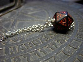 dark elf dice pedant elvish k20 dice by kickthebucket