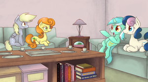 Tea With Friends by robynneski