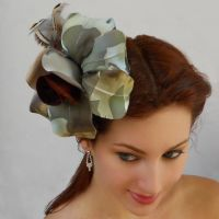 Butterfly flower with Hair Comb by tracyholcomb