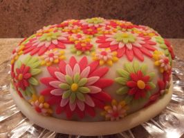Flower Birthday Cake by LauraBakery
