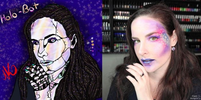 HoloBot Simply Nailogical by Nekkittychan