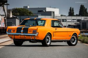 Orange 1966 Ford Mustang by AmericanMuscle