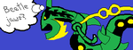 [MIIVERSE] Opinion on Mega Rayquaza by DrCoeloCephalo