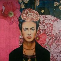 Frida Kahlo Calling by KanchanCollage