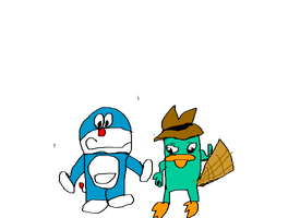 Doraemon & Perry The Platypus by TotallyTunedIn