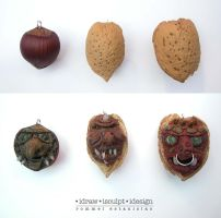 Chestnut and Walnut Trolls 1 by Dinuguan