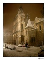 Dijon by night under snow IV by MysticAstral