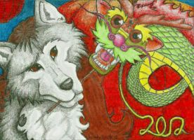 ACEO: Muriell celebrating New chinese year by FieryGabreilla