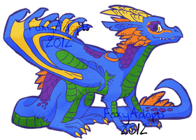 Azure Dragon Adopt CLOSED by xKitsurii