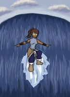Korra in the Avatar State by kevinXchou
