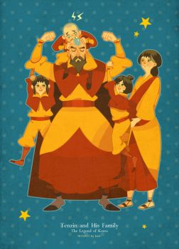 Tenzin and  his family by freestarisis