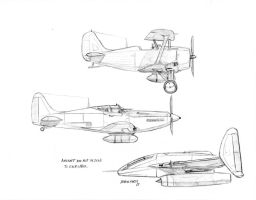 Assorted aviation doodles by Baron-Engel