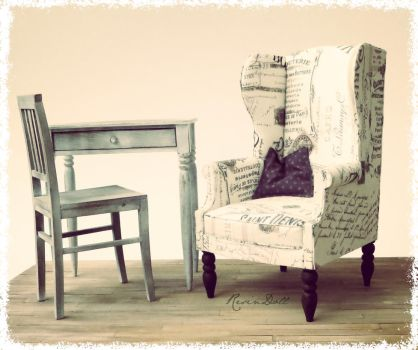 Wingback chair by meitina