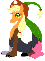 Draconequus Applejack by cdla