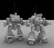 W.i.P4: Assault Mech by AceDarkfire