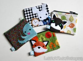 Cute Animal Coin Pouches by shiroiyukiko