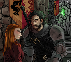 Green fire and the frightened Hound. by Fataldose
