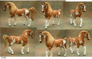 Custom Breyer G3 Arabian Chestnut Sabino by illuminatedface