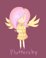 Chibi Fluttershy by Checkz3
