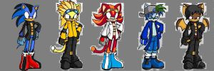 Sonic adopts 2 (3 left!) by Starflashthehedgecat