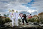 demon and angel by Sisters-Tamagochi