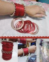 Indian Red Bangles by seawaterwitch