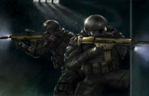SWAT NINJAS color by 7caco