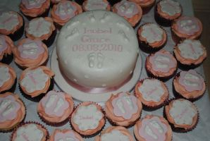 Isobels Christening cakes by starry-design-studio