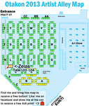 Otakon 2013 Artist Alley Map by zelas