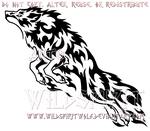 Rebellious Leaping Flame Wolf Design by WildSpiritWolf