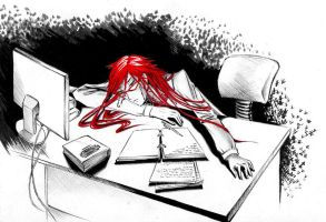 Grell at work by KiamiRay