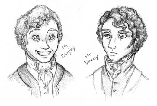 Mr Bingley and Mr Darcy by deeed