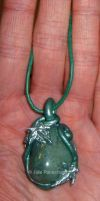 Silver ivy pendant by Lorellyne