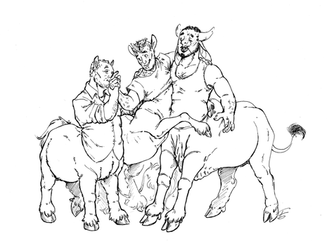 Centaurs Sketches 9 by Lost-Opium