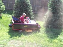 Batmobile Lawn mower by SailorUsagiChan
