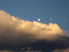 moon over clouds by honda-vfr