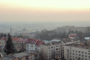 Lviv from above by MVMn