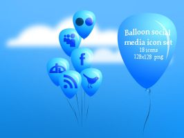 Balloon Social media icon set_ by nishad2m8