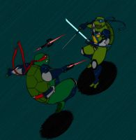 TMNT The Intramural Fight by pomdim